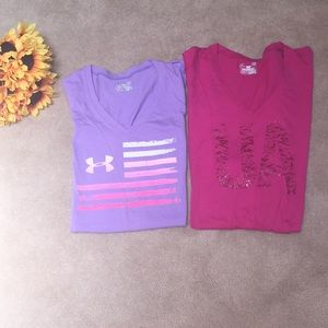 🌻WOMEN'S FITTED UNDER ARMOUR SHIRTS LARGE🌻